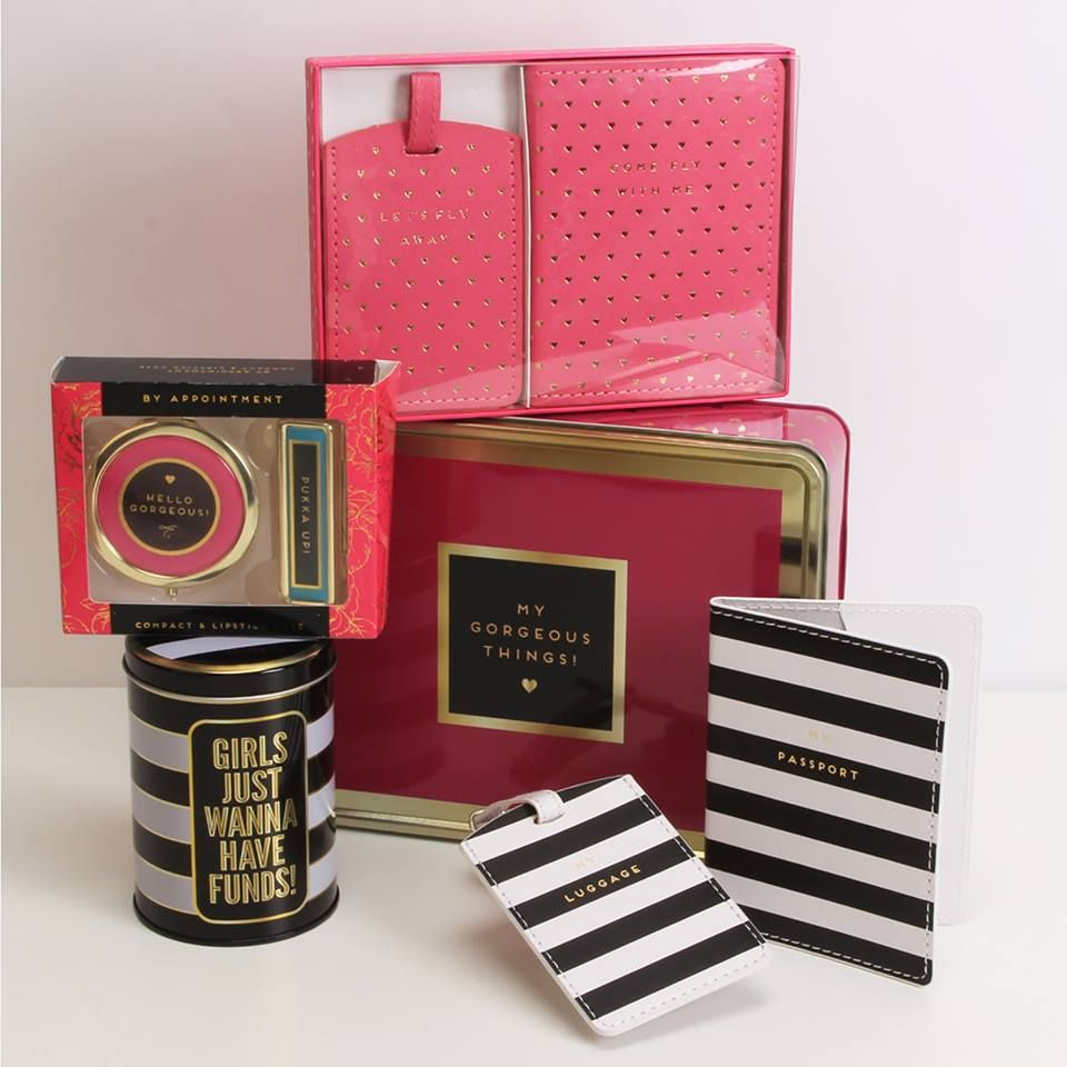 Ladies Pink Passport Holder And Luggage Tag Decorative Travel Black Accessories From By Appointment